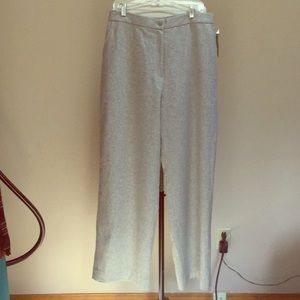 Lauren Ralph Lauren Pants & Jumpsuits - Classic light gray warm flannel wool slacks